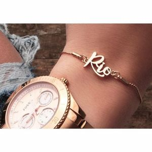 Ashley Bridge Gold Plated Rio Bracelet
